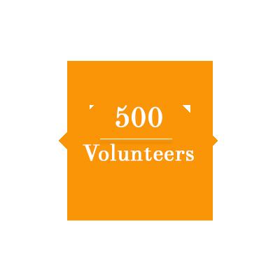 500 Volunteers