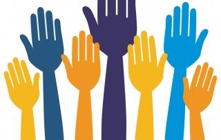 Logo volunteer hands large
